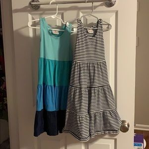 Two Hanna Andersson summer dresses size 110